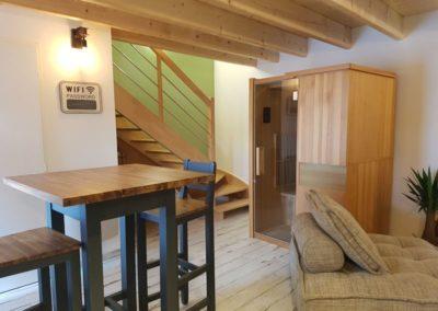 salon séjour / sauna / wi-fi / accès étage